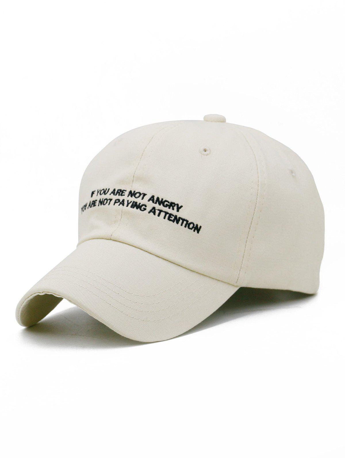 Discount Letter Sentence Embroidery Adjustable Baseball Cap