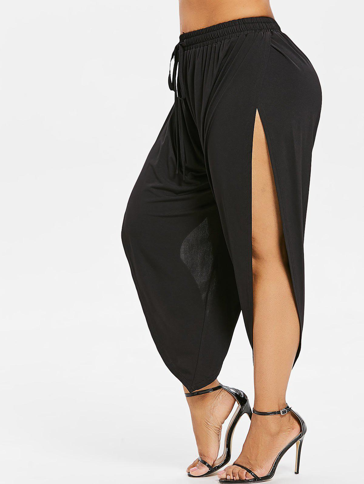 Outfits Plus Size Side Slit Ninth Length Pants