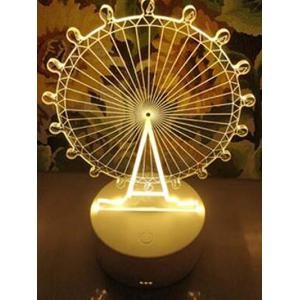 Lampe de table décorative 3D à grande roue -
