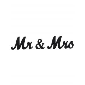 Mr and Mrs Pattern Wood Signs Wedding Decoration -