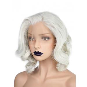 Medium Side Bang Wavy Lace Front Cosplay Synthetic Wig -