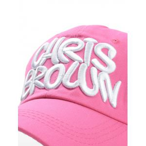 Vintage Letter Embroidery Adjustable Graphic Hat -