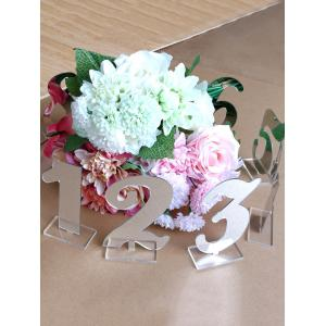 0 To 9 Mirror Surface Acrylic Signs Wedding Decoration Set -