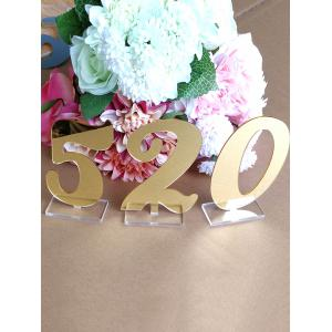 Number 0 To 9 Acrylic Signs Wedding Decoration Set -