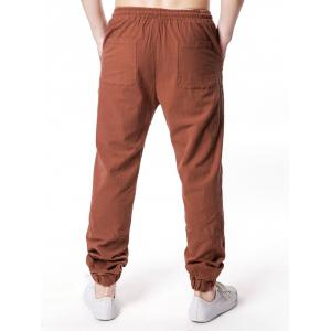 Drawstring Narrow Feet Casual Jogger Pants -