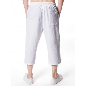 Solid Color Drawstring Nine Minutes of Pants -