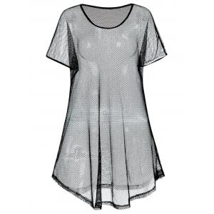 Plus Size Fishnet Cover Up Dress -