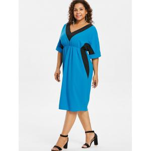 Robe taille empire deux tons grande taille -