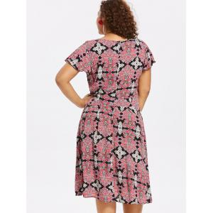 Plus Size Baroque Surplice Dress -