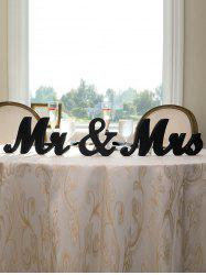 Г-н и г-жа Pattern Wood Signs Wedding Decoration -