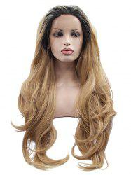 Long Free Part Colormix Wavy Synthetic Lace Front Wig -