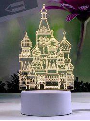 Creative 3D Castle Pattern LED Nightlight -