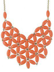 Hollow Out Flower Shape Necklace -