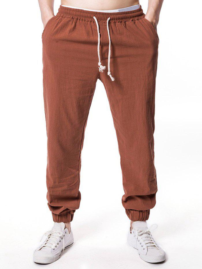 Discount Drawstring Narrow Feet Casual Jogger Pants
