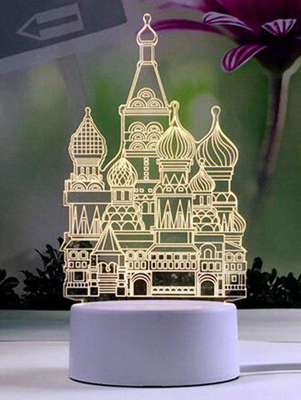 Творческий 3D Замок Pattern LED Nightlight