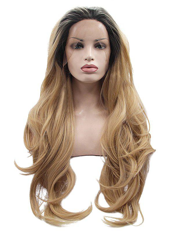 Buy Long Free Part Colormix Wavy Synthetic Lace Front Wig