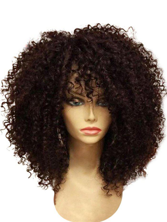 Chic Medium Full Bang Fluffy Afro Curly Synthetic Wig