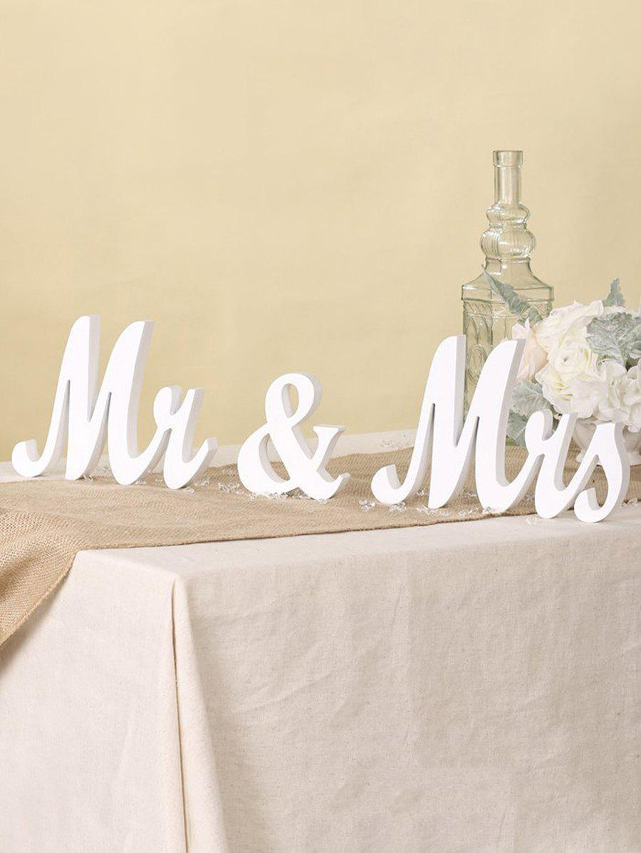 Affordable Mr and Mrs Wooden Signs Wedding Decor