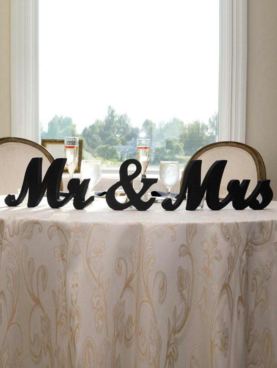 Store Mr and Mrs Pattern Wood Signs Wedding Decoration