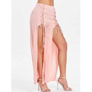 Criss Cross High Slit Pants -