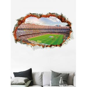 Football Game Pattern Broken Wall Sticker for Bedrooms -