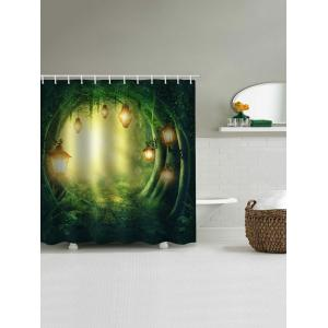 Forest Cave Lamp Print Waterproof Bathroom Shower Curtain -