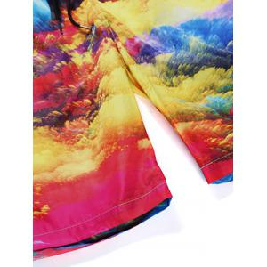 Colorful Clouds Print Quick Dry Board -