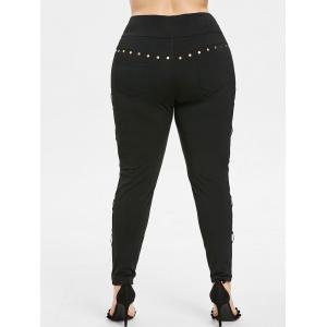 Side Cut Out Plus Size High Waisted Pants -