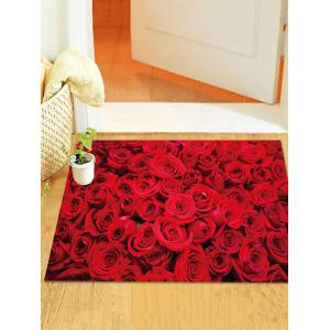 3D Rose Flower Pattern Removable Wall Sticker -
