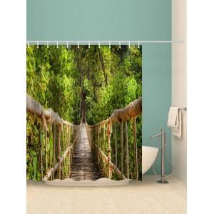 Tree Bridge Print Waterproof Shower Curtain -