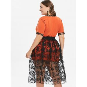 Plus Size Lace Skirt and Long Tee -