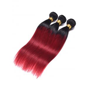Indian Human Hair Ombre Straight Hair Wefts -