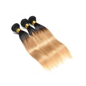 Indian Virgin Ombre Straight Human Hair Wefts -