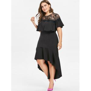 Plus Size Lace High Low Mermaid Dress -