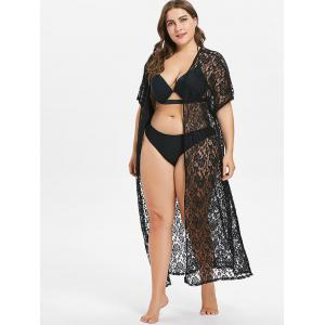 Plus Size Lace Maxi Cover Up -