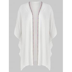 Plus Size Long Open Front Cover Up -