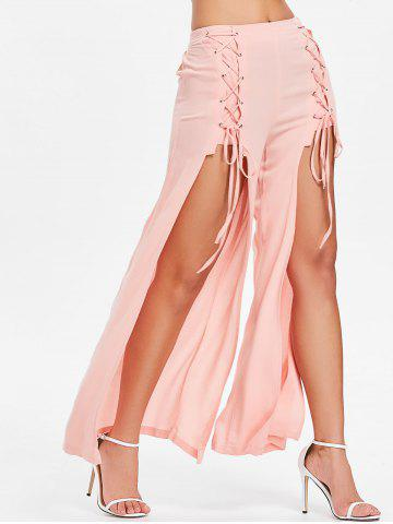 Shop Criss Cross High Slit Pants