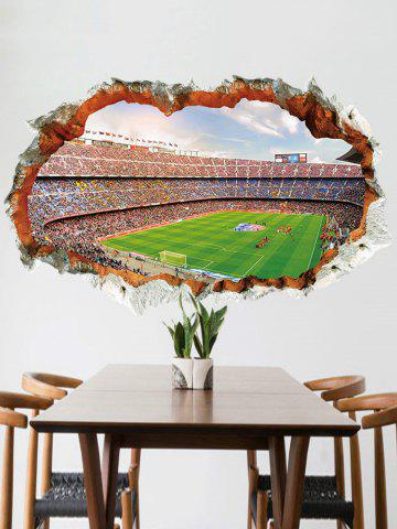 Outfits Football Game Pattern Broken Wall Sticker for Bedrooms