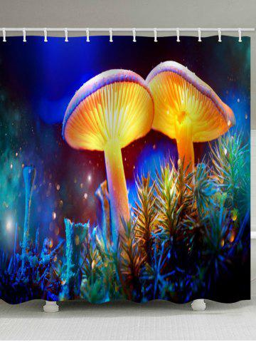 Hot Magic Mushroom Printed Waterproof Bath Curtain