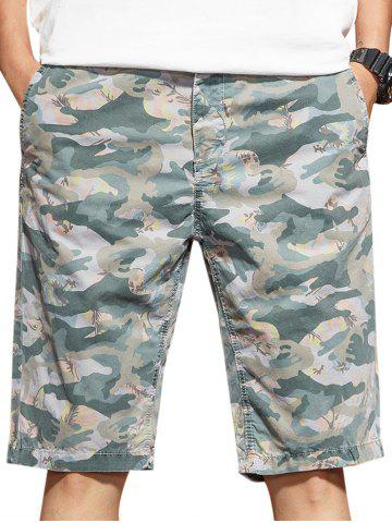 New Zip Fly Camo Casual Shorts