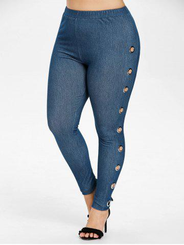 Store Plus Size Grommets Embellished Jeggings