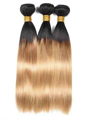 Discount Indian Virgin Ombre Straight Human Hair Wefts
