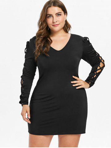 Plus Size Dresses Womens Trendy Lace White Black Plus Size