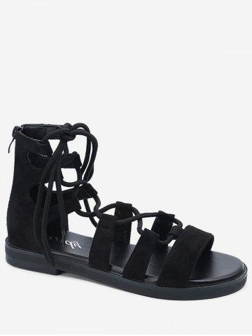 Leisure Crisscross Holiday Lace Up Sandals