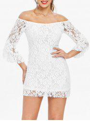 Mini Off Shoulder Lace Tight Club Dress -