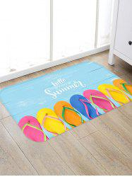 Summer Flip Flops Pattern Water Absorption Area Rug -