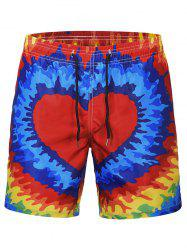 Heart Print Quick Dry Swim Short -