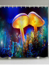 Magic Mushroom Printed Waterproof Bath Curtain -