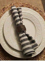Wood Tableware Ring Home Decoration -