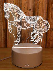 Creative 3D Horse Art Sculpture Visual LED Night Light -